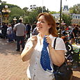 Knitting at Disneyland is fun!